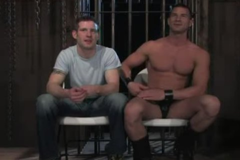 handcuffed In Wood homosexual booty hole Rougly pounded