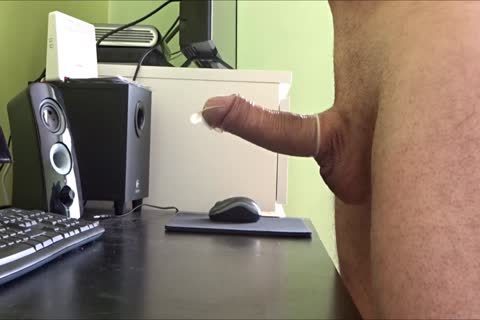 stroking Into A condom Two Times For An Xtube Fan Then Sent It To Him By Post.