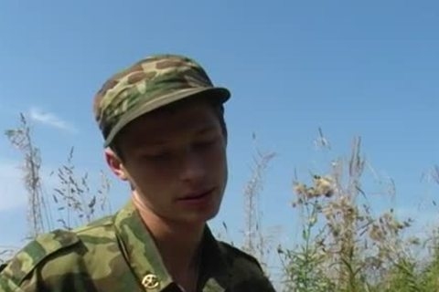 A young Military duett have a fun Some Sex outdoors