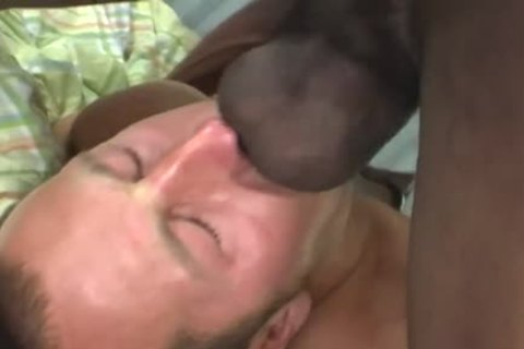 White man Deepthroating A biggest black knob