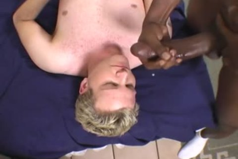 blonde boy Does Terrible oral-job job On A BBC