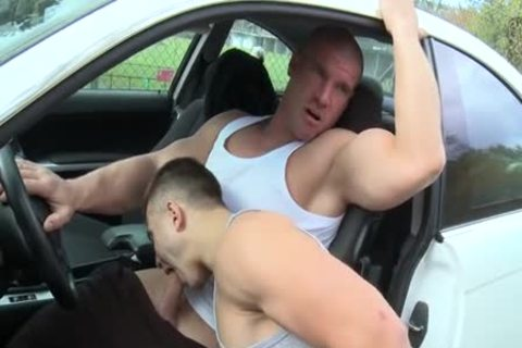 Muscle twinks Outdoor Car nail