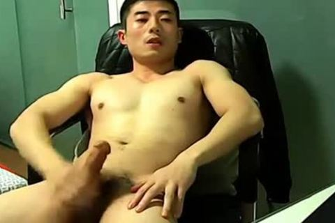Chinese jerking off On webcam