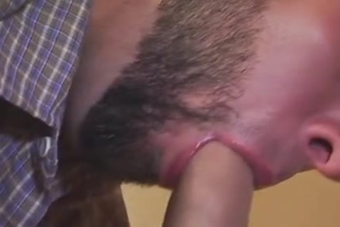 admirable penis Swallowing From Bearded dude