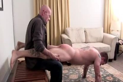 Muscle non-professional spanking With goo flow