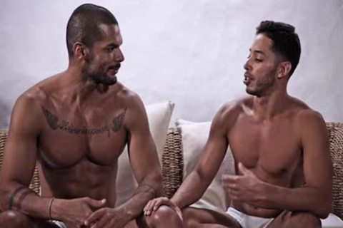 Latin homosexual anal-copulation With ball cream flow