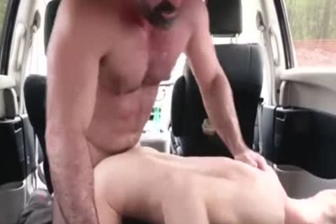 wicked dad bangs His Step Son In A Car - FAMI