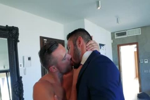 Muscle homo wazoo stab With cock juice flow