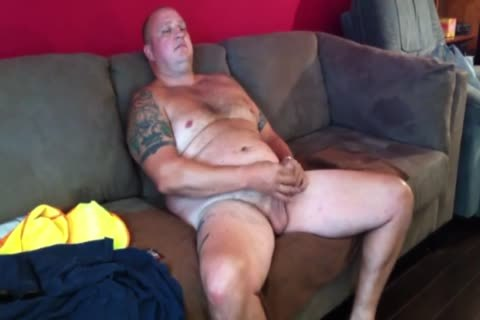 wild Tattooed chubby Construction Worker Solo