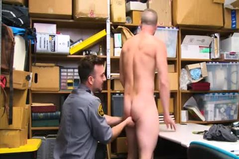 Shoplifting guy Takes schlong Up His anal And Down His throat