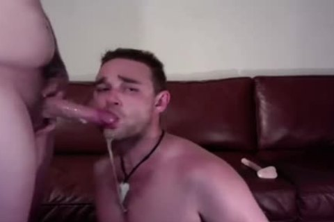 Sloppy oral stimulation On web camera