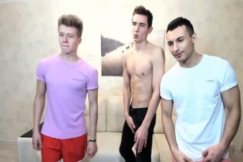3 Russian stylish boyz With Great Round poopers,wonderful cocks On web camera
