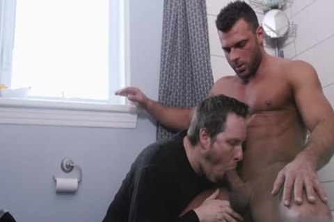 large ramrod homosexual oral-sex With Facial