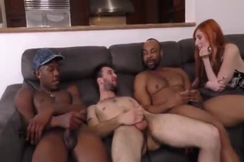 Girlfriend makes a decision Her Boyfriend Needs Two big dark dicks Up His ass