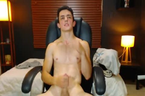 Duke J On Flirt4Free - large Dicked guy Jerks Off W OhMiBod Lodged In booty