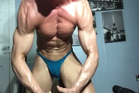 Drenched Muscle & Sweat dripping From Pants