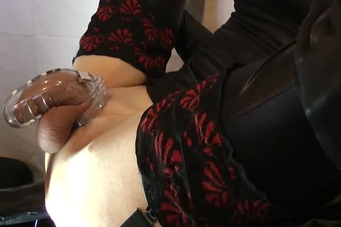 Sissy gets hammered With Chastity Belt
