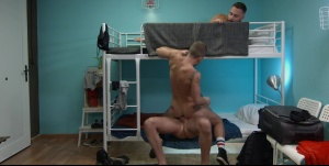 Hostel Takeover - Damon Heart with Logan Moore ass sex