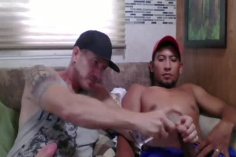 Straight Latino Construction Worker gets First handjob From A fellow (Martin two)