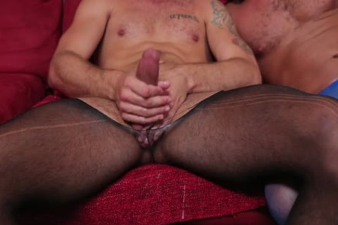 Wesley Woods nailed In pantyhose