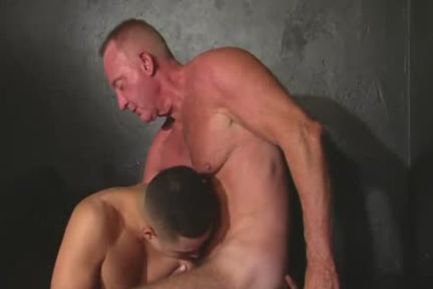 wonderful Looking Daddy & Younger chap pound In A Bathhouse