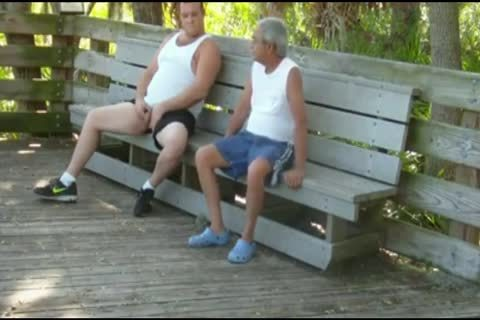 outdoors Scenes Where grandad Sucks & gets pounded By bulky