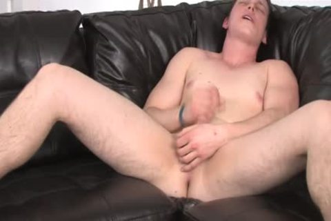 young man Struggling To get Hard During jerk off Session
