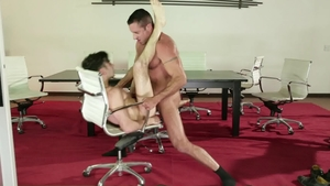 Icon Male - Muscle Andy Banks touches big cock