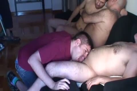 threesome Of old And A young To spooge On His Face
